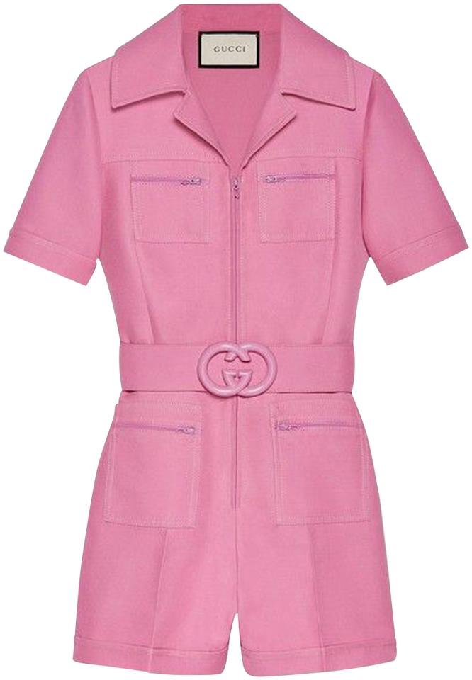 full range of specifications professional retail prices Gucci Pink Short Belted Playsuit Romper/Jumpsuit 38% off retail