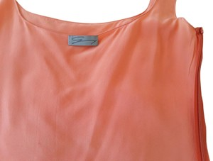 Yohji Yamamoto Silk Sleeveless Zip On The Side Made In Italy Top orange