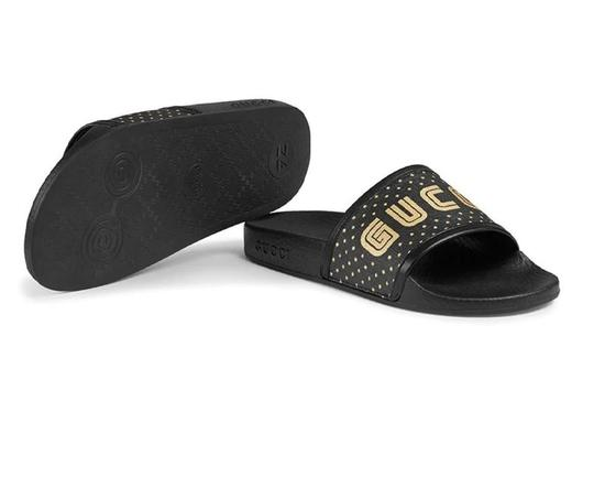 Gucci Black and Gold Flats Image 5