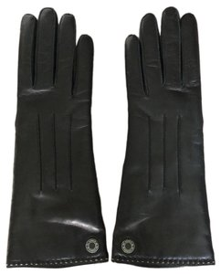 8f3651cc5bc18 Coach Black Cashmere-Lined Leather Gloves Size 7.5