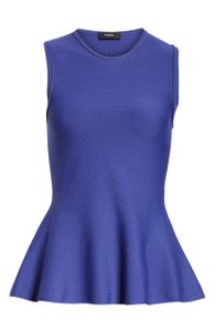 Theory Peplum Stretchy Top Purple/Lilac/Admiral Lustrate
