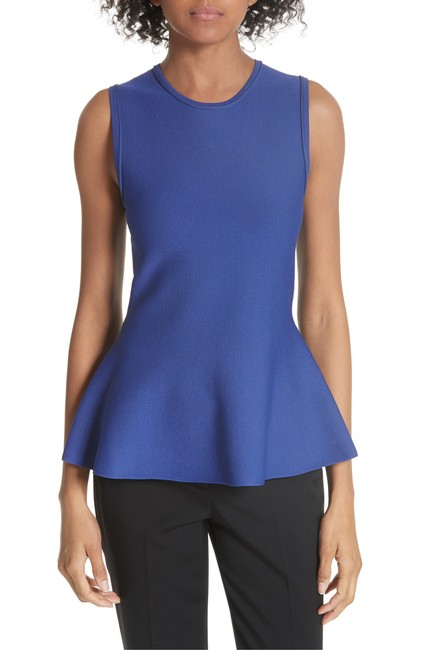 Theory Peplum Stretchy Top Purple/Lilac/Admiral Lustrate Image 1