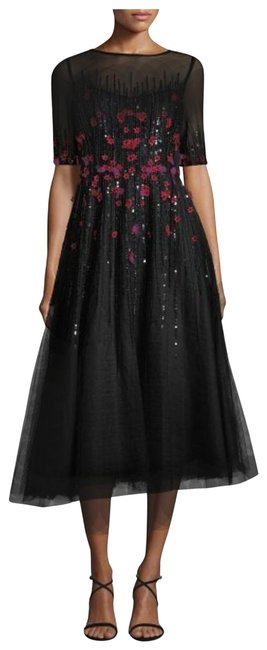 Preload https://img-static.tradesy.com/item/25761199/teri-jon-black-pink-floral-beaded-mid-length-cocktail-dress-size-10-m-0-1-650-650.jpg
