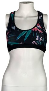 Pink Lotus PL Movement Pink Lotus Athletic Sport Bra Nylon Floral Sz XL NEW NWT