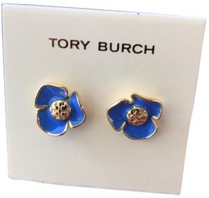 Tory Burch new tory burch blue floral stud earrings
