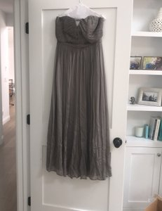 J.Crew Grey Arabella Feminine Bridesmaid/Mob Dress Size 8 (M)