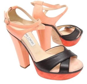 Jimmy Choo black, red, sorbet, orange, pink Sandals