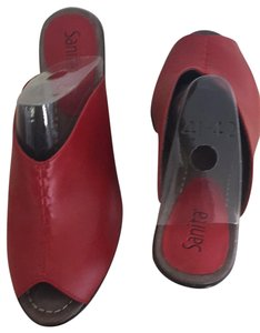 Sanita Red Mules