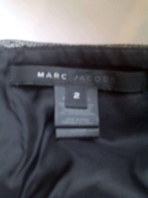Marc Jacobs Empire Waist Lace Trim Top Black with Green Sash Belt