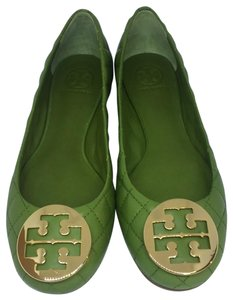 Tory Burch Leaf Green Flats