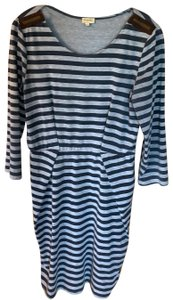 Daniel Cremieux short dress navy and gray on Tradesy