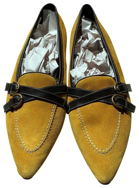 Item - Gold Suede with Dark Brown Leather Trim P270 Amber E3 Flats Size US 7.5 Regular (M, B)