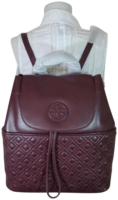 Item - Marion Deep Berry Lamb Quilted Burgundy Leather Backpack