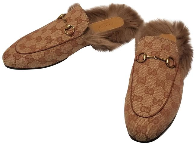 Item - Brown Princetown Fur Lined Gg Slip On Loafers Mules/Slides Size EU 38.5 (Approx. US 8.5) Regular (M, B)