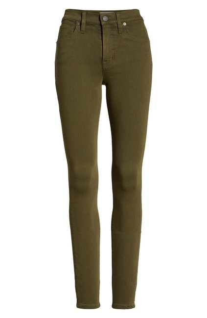 """Item - Weathered Olive 9"""" High Rise - Skinny Jeans Size 34 (12, L)"""