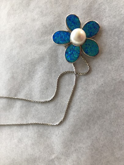 None Australian opal and pearl necklace Image 1
