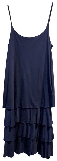 Item - Blue Tiered Summer Short Casual Dress Size 4 (S)