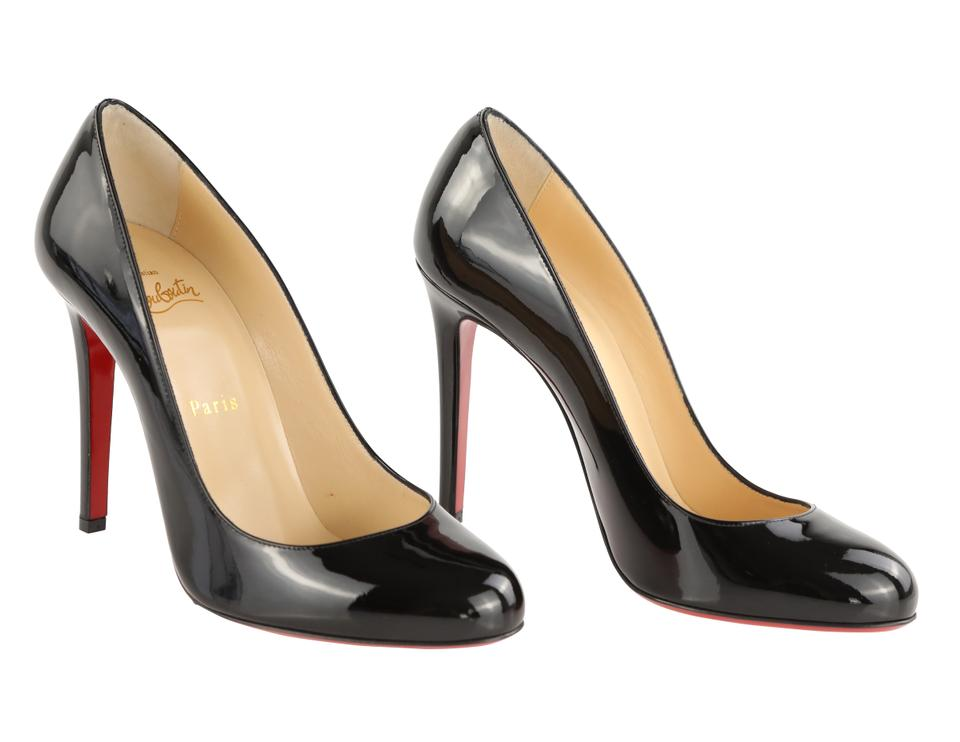 grande vente 2b241 4358a Christian Louboutin Black Fifille 100mm Patent Leather Pumps Size EU 38  (Approx. US 8) Regular (M, B) 23% off retail