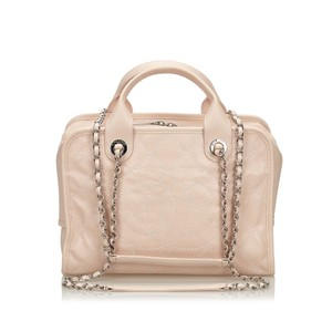 Chanel 9gchst002 Vintage Cowhide Leather Satchel in Pink