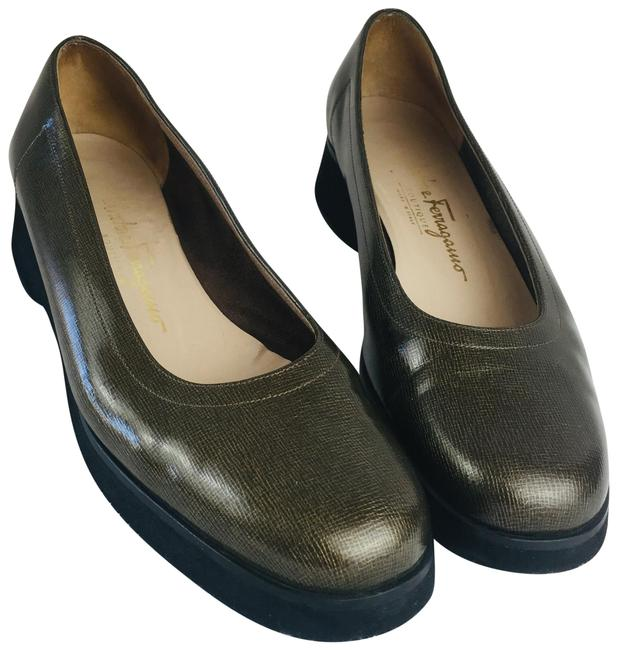 Item - Green Patent Leather Flats Size US 8 Narrow (Aa, N)