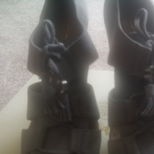 Coach Gray Shimmer Sandals