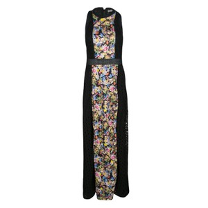 Black Maxi Dress by MARY KATRANTZOU Cotton Embroidered Floral Viscose