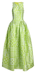 Green Maxi Dress by Christian Siriano Geometric Lime Gown