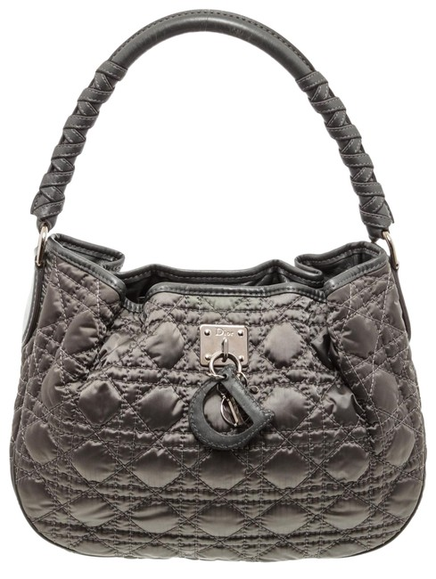 Item - Bag Cannage Leather Charming Grey Nylon Tote
