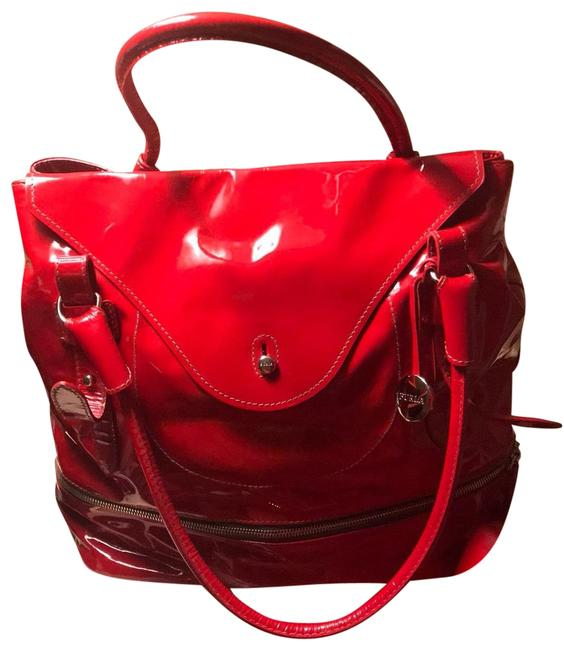 """Item - """"april"""" Red Patent Leather Hobo Bag"""