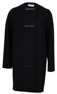 Balenciaga Embellished Cocoon Polyester Acetate Silk Trench Coat