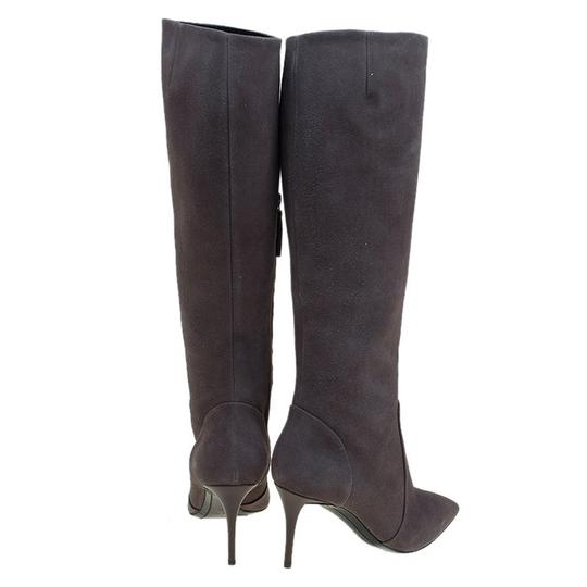 Giuseppe Zanotti Suede Pointed Toe Grey Boots Image 2