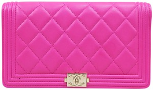 Chanel Hot Pink Boy Wallet
