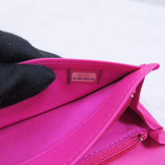 Chanel Hot Pink Boy Wallet Image 11