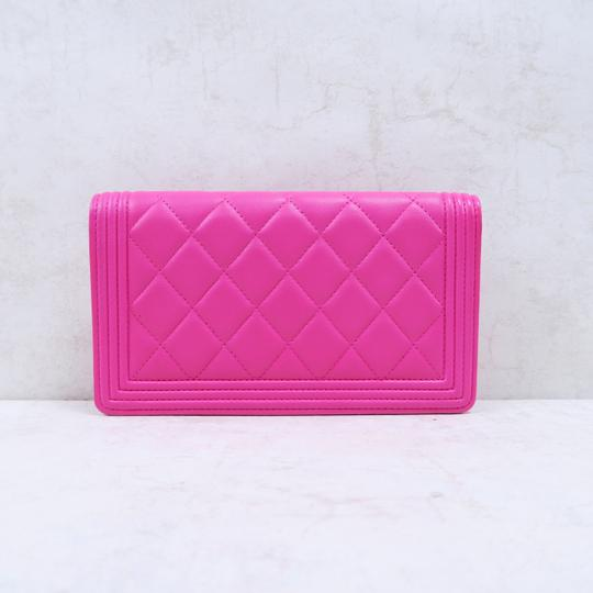 Chanel Hot Pink Boy Wallet Image 2