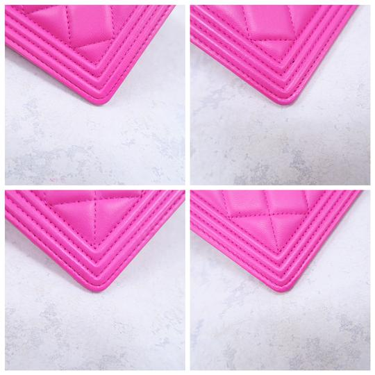 Chanel Hot Pink Boy Wallet Image 6