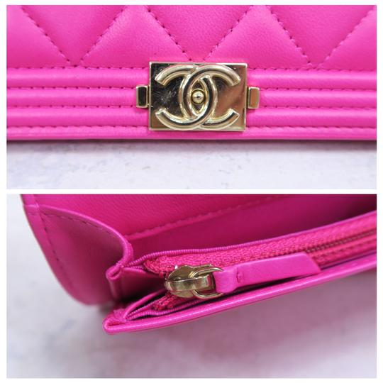 Chanel Hot Pink Boy Wallet Image 7