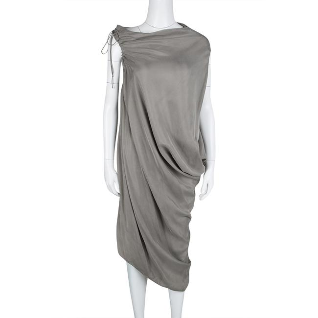 Grey Maxi Dress by Lanvin Detail Draped Cupro Image 1