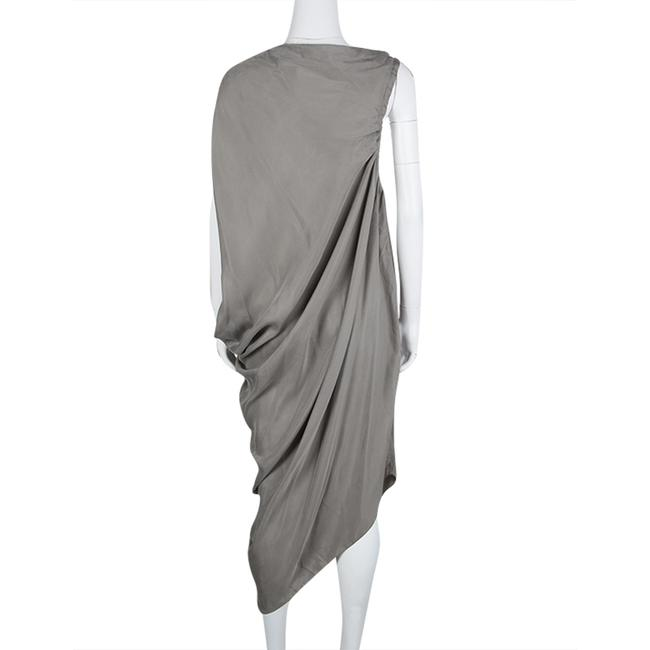 Grey Maxi Dress by Lanvin Detail Draped Cupro Image 2