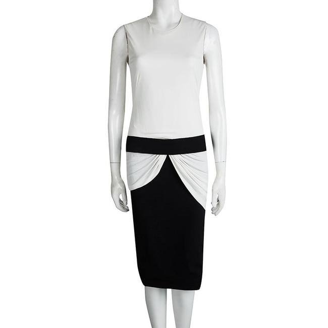 Multicolor Maxi Dress by Alexander McQueen Monochrome Knit Draped Sleeveless Rayon Image 1