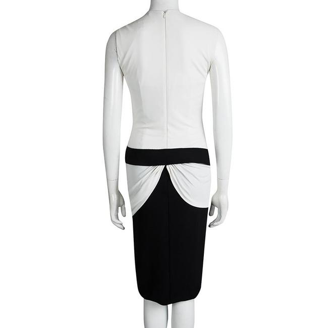 Multicolor Maxi Dress by Alexander McQueen Monochrome Knit Draped Sleeveless Rayon Image 2