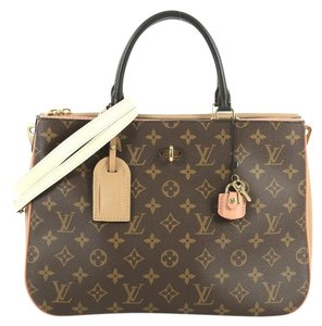 Louis Vuitton Millefeuille Canvas Satchel in brown