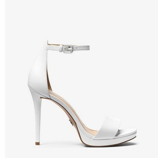 Michael Kors White Leather Sandals Image 2