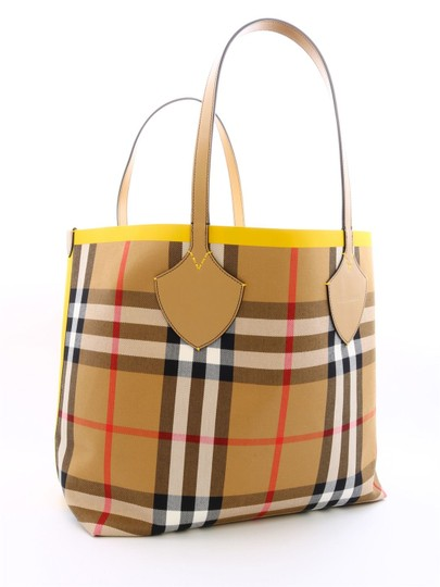 Burberry Reversible Tote in Yellow / Vintage Check Image 1