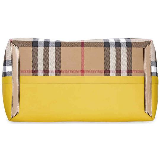 Burberry Reversible Tote in Yellow / Vintage Check Image 4