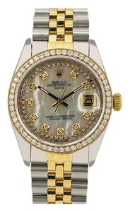 Rolex Rolex Oyster Perpetual Date 1500 34MM Mother of Pearl Diamond Dial