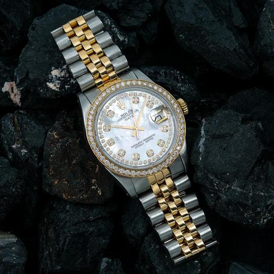 Rolex Rolex Oyster Perpetual Date 1500 34MM Mother of Pearl Diamond Dial Image 1