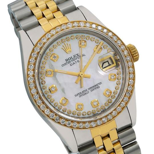Rolex Rolex Oyster Perpetual Date 1500 34MM Mother of Pearl Diamond Dial Image 2