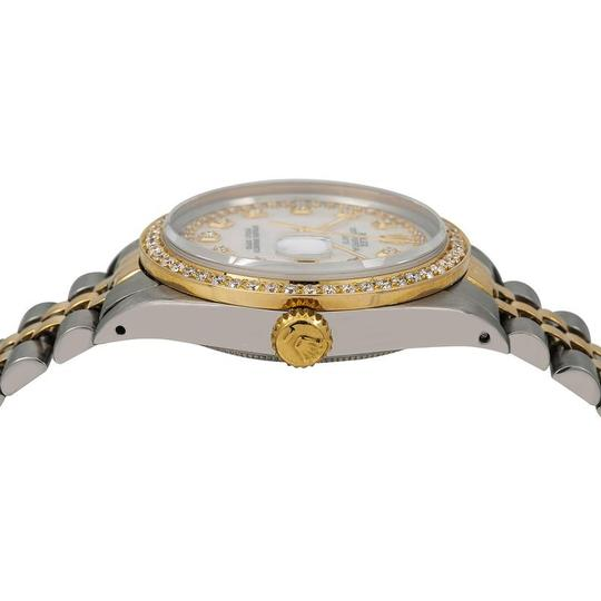 Rolex Rolex Oyster Perpetual Date 1500 34MM Mother of Pearl Diamond Dial Image 3