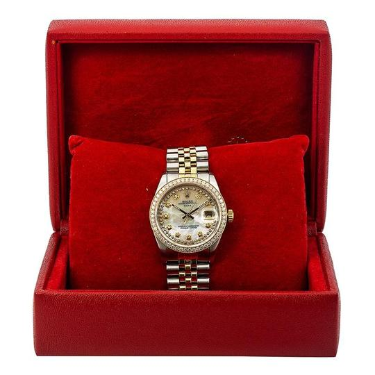 Rolex Rolex Oyster Perpetual Date 1500 34MM Mother of Pearl Diamond Dial Image 5