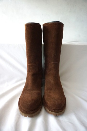 Prada Riding Suede Knee High Brown Boots Image 2